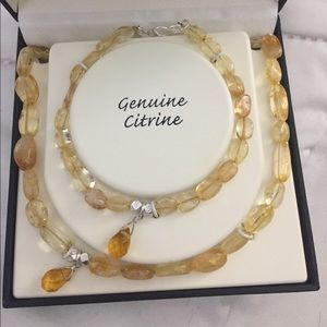 Citrine Necklace and Bracelet Set